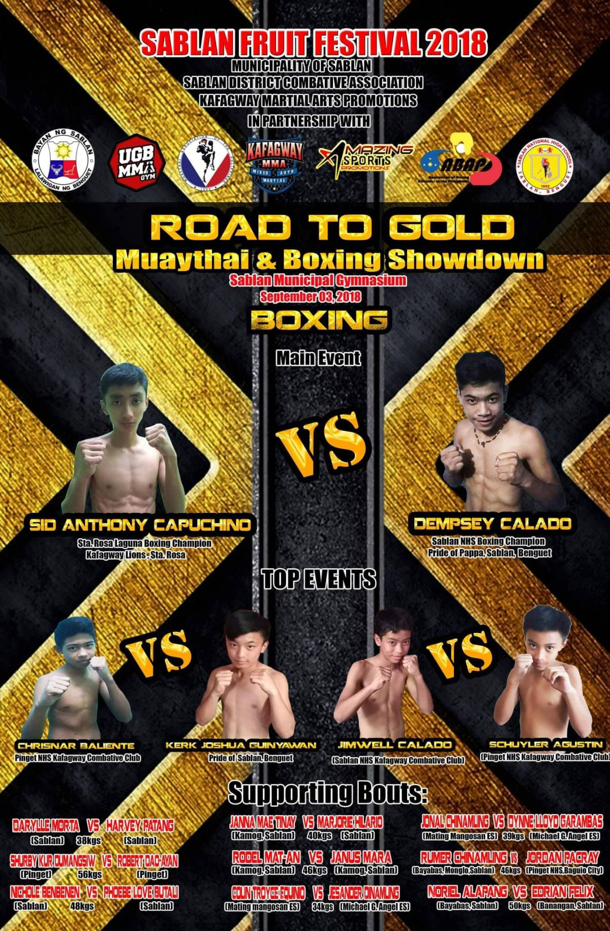 'Road to Gold' Muaythai and boxing showdown
