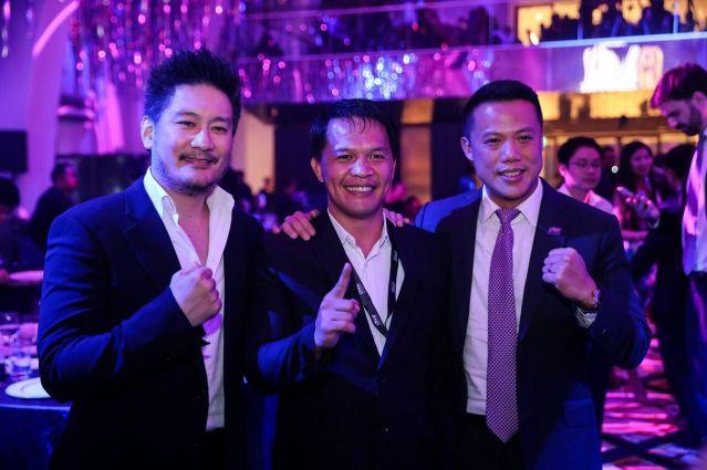 Chatri Sityodtong, Mark Sangiao, Hua Fung Teh (©ONE Championship)