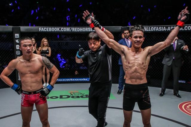 Peng Xue Wen, Yuji Shimada, Jeremy Miado (© ONE Championship)