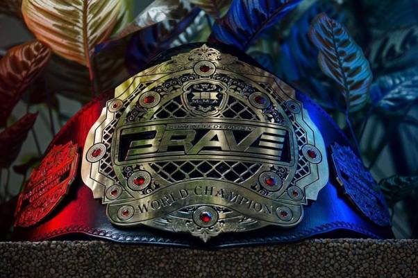 BRAVE Combat Federation belt (© BRAVE CF)