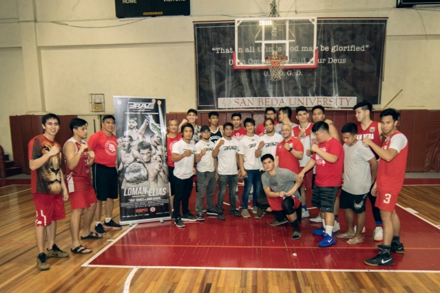 San Beda Red Lions with Team Lakay