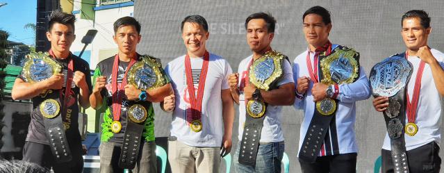 Joshua Pacio, Geje Eustaquio, Mark Sangiao, Kevin Belingon, Eduard Folayang, Stephen Loman (©ONE Championship)