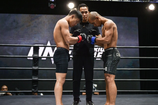 Ismael Bandiwan, Isaac Yap, Adib Sulaiman (©ONE Championship)