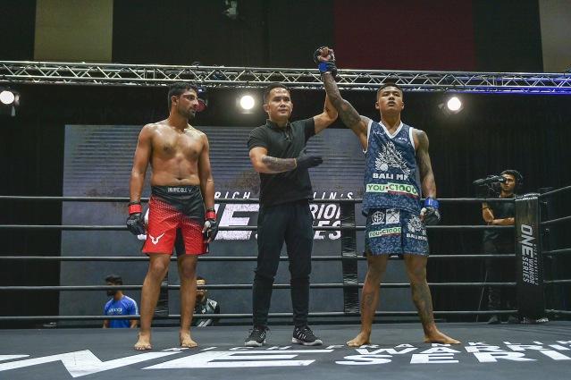 Raghvendra Singh, Isaac Yap, Punnya Sai (©ONE Championship)