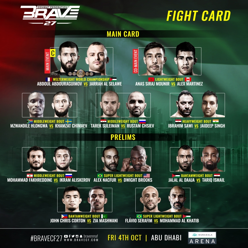 'Brave 27' fight card