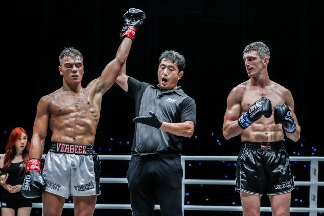 Santino Verbeek, Atsushi Onari, Juan Cervantes (©ONE Championship)
