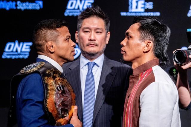 Bibiano Fernandes, Chatri Sityodtong, Kevin Belingon (© ONE Championship)