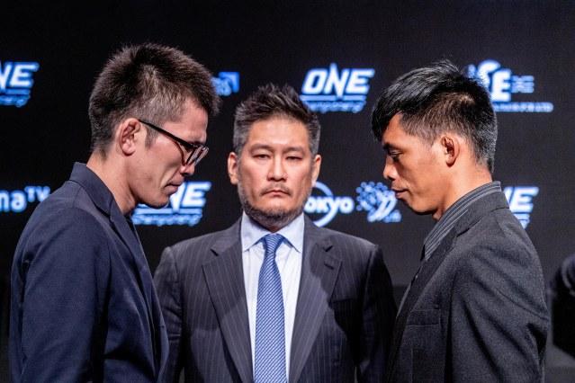Shinya Aoki, Chatri Sityodtong, Honorio Banario (© ONE Championship)