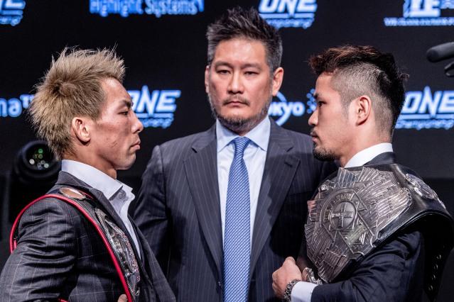 Yosuke Saruta, Chatri Sityodtong, Daichi Kitakata (©ONE Championship)