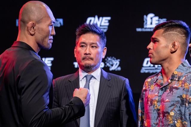 Yushin Okami, Chatri Sityodtong, Agilan Thani (©ONE Championship)